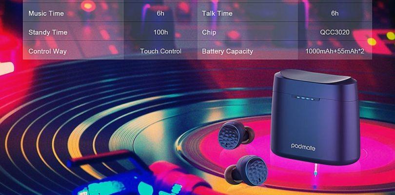 True Wireless Padmate Tempo T5 Headphones